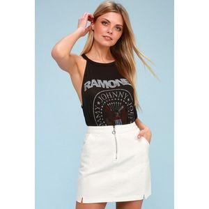 🆕 Leigh White Denim Mini Skirt